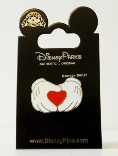 Disney Parks Mickey Mouse Pin Heart Shape Hands Love Gloves Trading Pin New