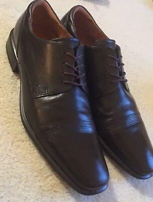 Men's Ecco Cairo Cap Toe Tie Dress Shoes Dark Leather  47 / 13 - 13.5 M  $170