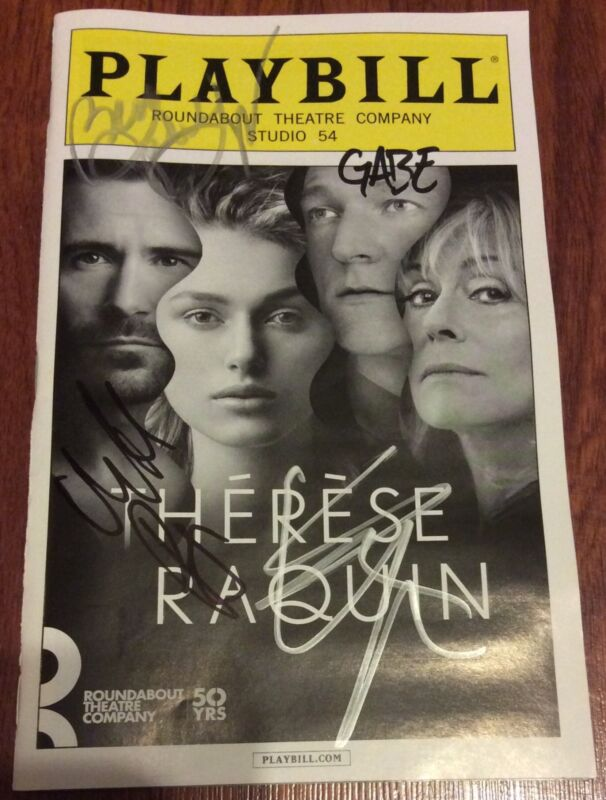 THERESE RAQUIN CAST SIGNED PLAYBILL KIERA KNIGHTLEY MATT RYAN LIGHT EBERT