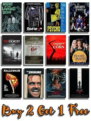 Classic Halloween Movie Posters Print Wall Art A4 A3 Films 70's 80's 90's Cinema (80s 90s Halloween Movies)