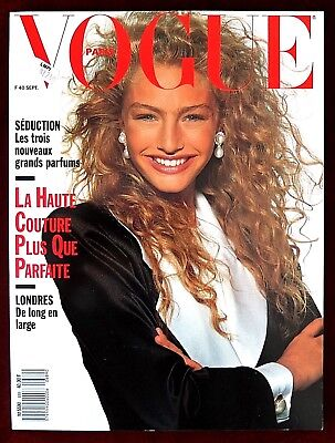 Vogue Paris Magazine ~ #689 September 1988 ~ Michaela Bercu Iman Carre Otis