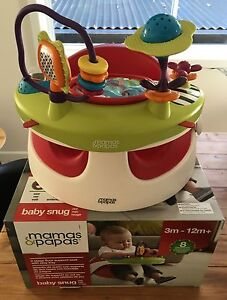 Mamas and Papas Baby Snug with Activity Play Tray - Red Seat Gymea Bay Sutherland Area Preview