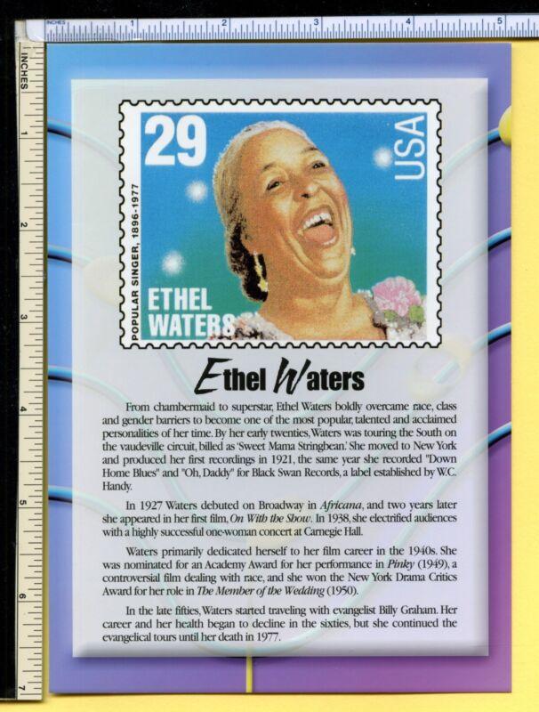 ETHEL WATERS Postcard 2000 5x7 usps Jumbo Gospel Vocal Legend post card, ex cond