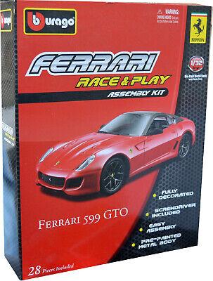FERRARI 599 GTO KIT 1:32 Scale Diecast Model Toy Car KIT Models Miniature Grey