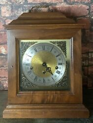 Triple Chime 8 Day Mantle Clock Franz Hermle 1050-020 W. Germany