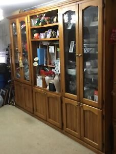 3 Solid Wood Cabinets good condition, some scratches Doonside Blacktown Area Preview