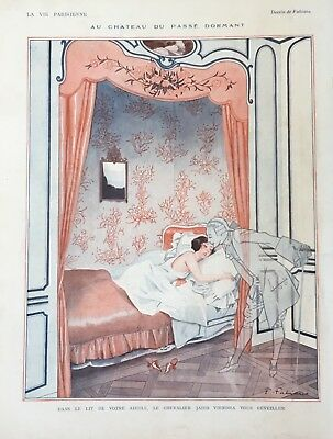 La Vie Parisienne Original Print 1924 Fabiano Kiss Ghost. Beautiful Art Deco! for sale  Marietta