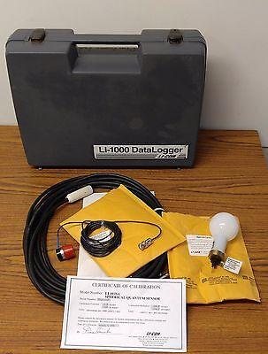 Li-cor Li-1000 Data Logger With Spherical Quantum Sensor Li-193sa Li-190sa