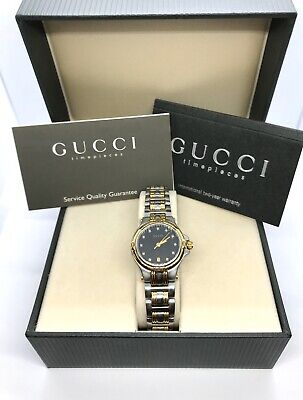 Ladies Vintage Gucci Diamond Dial Quartz Watch with Warranty - Rare