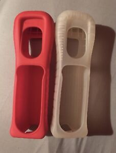 Wii Remote Silacoon Cases Red & White