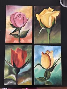 Beautiful rose hand made wall picture