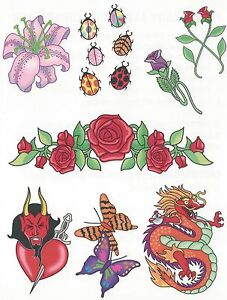 Tribal-13-different-Temporary-Tattoo-Large-size-sheet