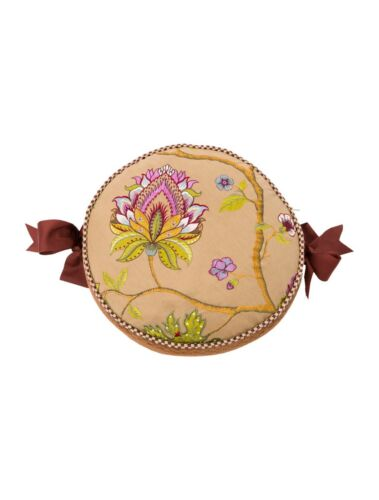 MacKenzie-Childs Embroidered $495 Retail Bittersweet Courtly CHECK Pillow 2avl