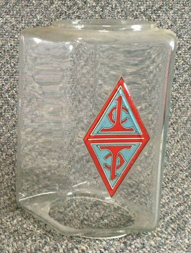 Original Simpson Double Commander glass globe with Mint Original Decal