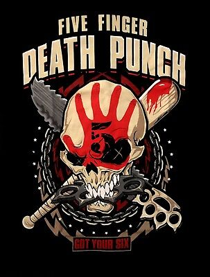 Zombie Punch (FIVE FINGER DEATH PUNCH cd lgo Got Your Six ZOMBIE KILL Official SHIRT MED)