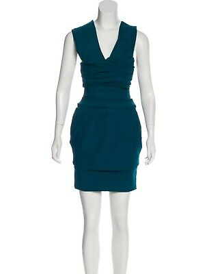 Preen by Throton Bregazzi Teal Blue Sleeveless Mini Dress, Size Medium, NWT!
