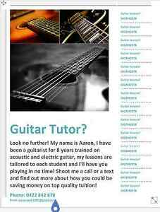 Guitar tutor - Aaron Arcadia Vale Lake Macquarie Area Preview