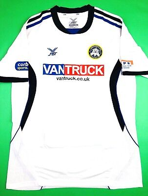New RHYL FC 2013-15 FBT L Home Soccer Jersey Football Shirt Wales Lilywhites image