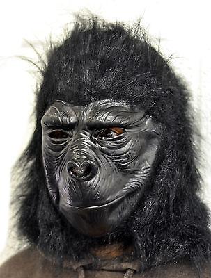 Gorilla Voller Kopf Latex Maske Halloween Kostüm Affe Affe Schimpanse King Kong ()