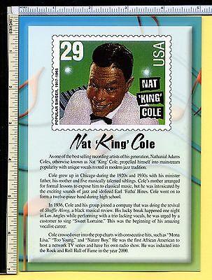 Nat King Cole USPS SINGING LEGEND Jumbo 5x7 Postcard; post card; 2000; EX/NM