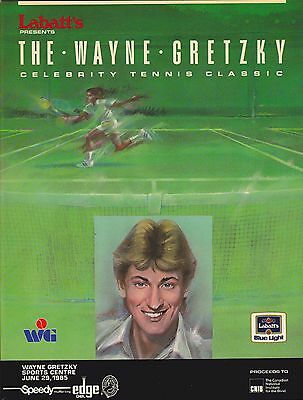 1985 LABATT'S WAYNE GRETZKY CELEBRITY TENNIS CLASSIC PROGRAM HOCKEY