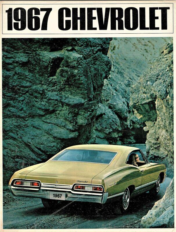 1967 Chevrolet Impala SS Caprice Bel Air Biscayne Wagons Dealer Sales Brochure