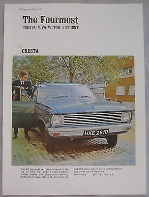 1966 Vauxhall Cresta Original advert