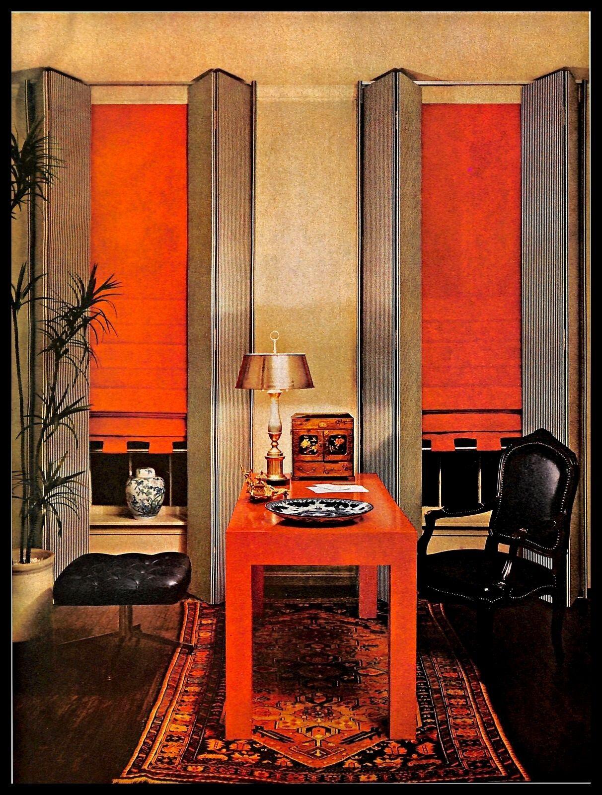 1966 Private Office Interior Home Decor Vintage Magazine PRINT IMAGE 1960s