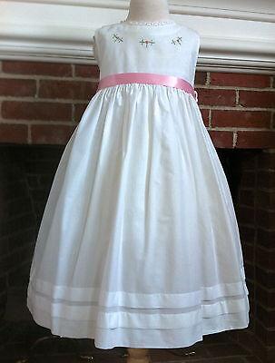 Strasburg White Classic Embroidered Beach Slip 18m 24m 2 Portrait Dress