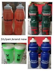 brand new, various drink water bottles, $1/pair