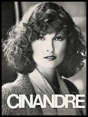 1974 Cinandre Beauty Salon Vintage PRINT AD Hairstyle Makeup New York B&W 1970s  - Hairstyles 1970s