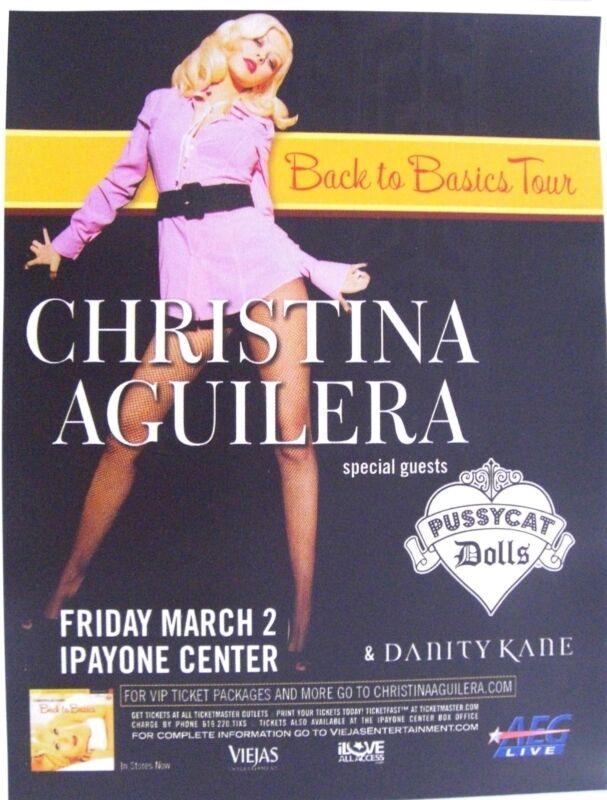 "CHRISTINA AGUILERA ""BACK TO BASICS TOUR"" 2007 SAN DIEGO CONCERT POSTER -Pop Diva"