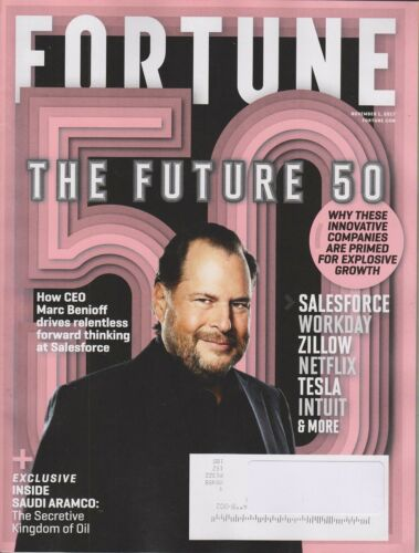 FORTUNE MAGAZINE NOVEMBER 1 2017  THE FUTURE 50 NEW SHIPS FREE