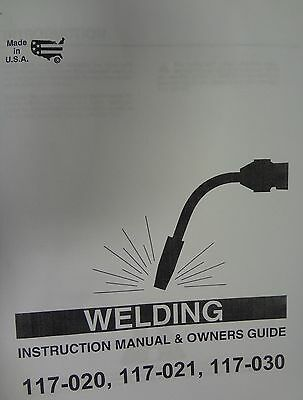 Century Mig Welder Parts Owners Manual 117-020117-021117-030