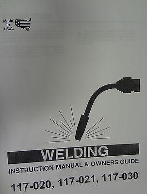 Century Mig Welder Parts Owners Manual 117-020117-021117-030