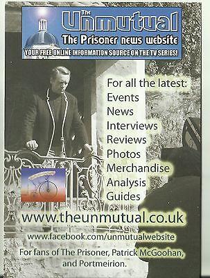 The Unmutual Website Promotional Flyer The Prisoner Patrick McGoohan Portmeirion