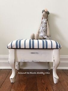 Shabby chic foot stool/rest