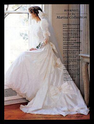 1988 Ron Lovece Wedding Gown Dress Vintage PRINT IMAGES Marriage Bride Marisa
