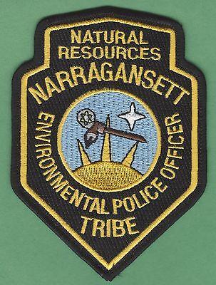 NARRAGANSETT RHODE ISLAND TRIBAL NATURAL RESOURCES ENFORCEMENT POLICE PATCH