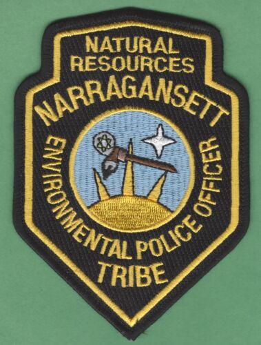 NARRAGANSETT RHODE ISLAND TRIBAL RESOURCES ENFORCEMENT POLICE SHOULDER PATCH