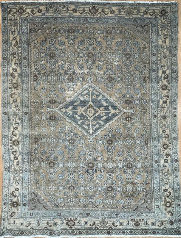Tremendous Tribal - 1920s Antique Malayer Rug - Nomadic Carpet - 4.4 X 6.11 Ft