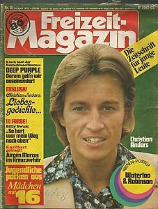 Freizeit Magazin 16 / 1975 Genesis, Jürgen Marcus, Waterloo &Robinson, Schlumpfe