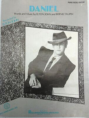 Elton John Bernie Taupin DANIEL Sheet Music Original