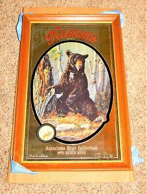 "1992 HAMM'S BEER Black Bear w/ Bee's Wildlife Hunting MIRROR (MIP) "" NOS """