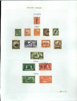 New Zealand 1927-1936 Album Page Of Stamps #V21269