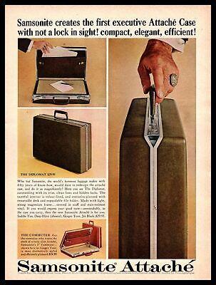 1963 Samsonite Diplomat Attaché Case Commuter Businessman's Briefcase Print Ad