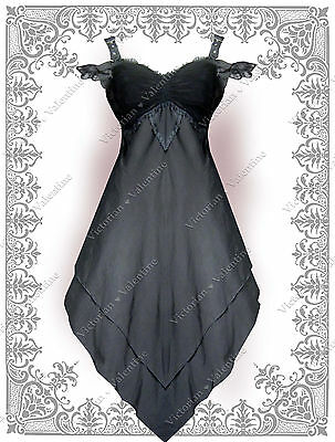 Elegant Halloween (Steampunk Vintage Elegant Gothic Fairy Pirate Ruffle Halloween Gypsy Dress)