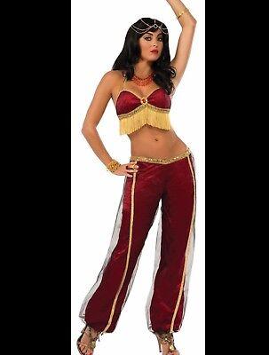 Adult Women's  HALLOWEEN COSTUME Desert Princess RUBY DANCER Belly Dancer - Halloween Desert