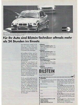 BMW - BILSTEIN - 24h -  Rennen -   Annonce historische Reklame  vintage advert