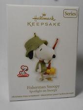 2012 Hallmark Peanuts Fisherman Snoopy Christmas Ornament ...